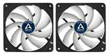 2 x Pack of Arctic Cooling F12 PWM 120mm 12cm PC Case Fan, 4 Pin PWM, 53CFM
