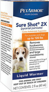 PETARMOR - Sure Shot 2XL Liquid Formula Womer for Dogs - 2 fl. oz. (60 ml)
