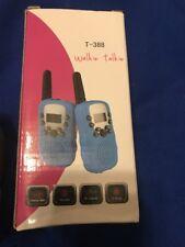 2PCS Wireless Walkie Talkie 5km UHF Multi 8 Channels 2-Way Radios lb T-388 Blue