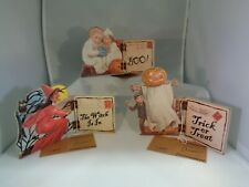 Primitives by Kathy Halloween Hinged Shelf Sitter Lot of 3 Designs NEW