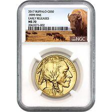 2017 Gold Buffalo 1oz ($50) MS70 ER NGC Buffalo Label