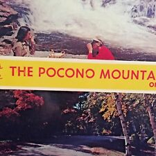 """Postcard """"Greetings From The Pocono Mountains"""" of PA.   Y6"""