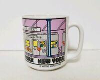 New York City NYC Vintage 1986 Subway Cartoon Coffee Cup Mug by Metro World