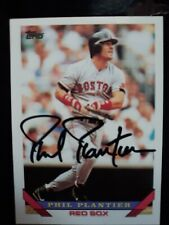 PHIL PLANTIER autograph 1993 Topps Set Signed Card #592 BOSTON RED SOX 93