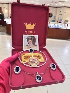 ROYALTY! ELEGANT LUXURY SAPPHIRE DIAMOND JEWELRY SET INSPIRED BY PRINCESS DIANA