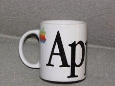 Vintage APPLE Computers Macintosh Rainbow Logo White Ceramic Tea Cup Coffee Mug