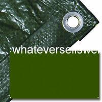 12x8' 360x240cm HEAVY DUTY TARPAULIN GROUND SHEET 100g/m2 is waterproof