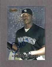 1997 BOWMAN BEST #165  Derrick Gibson COLORADO ROCKIES SIGNED AUTOGRAPH AUTO COA