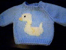 Handmade Easter Duck Sweater for Bitty Baby Doll Made in USA