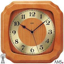 Ams Wall Clock 39 Rc Kirschbaumfarben Mineral Glass Watch Kitchen Office 063