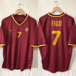 PORTUGAL 2000 2001 HOME FOOTBALL SHIRT SOCCER JERSEY NIKE # 7 FIGO