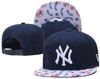 New York Yankees Baseball Cap Snapback Hat MLB Sport Team Adjustable Strap