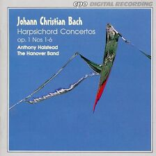 J.C. Bach - Harpsichord Concertos, Op.1 Nos. 1 to 6 / Anthony Halstead