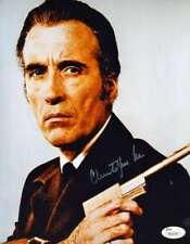 CHRISTOPHER LEE JSA Cert Hand Signed 8x10 James Bond Photo Autograph Authentic