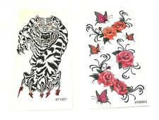 Butterfly Flower Tiger Fake Temporary Tattoo Arm Body Art Party Bag Girls Women
