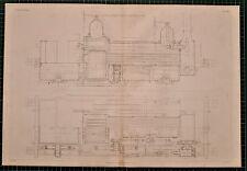 Locomotiva 1855 di stampa Sinclair'S TANK ENGINE longitudunal sezione piano RAIL