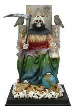 7 Powers Rainbow Robe Santa Muerte Holy Death Bone Mother on Throne Statue Decor