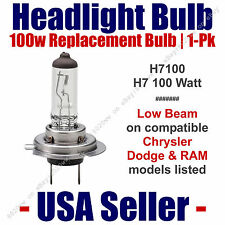 Headlight Bulb Low Beam 100 Watt Upgrade 1pk Fits Chrysler Models Listed H7 100
