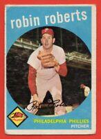 1959 Topps #352 Robin Roberts GOOD+ CREASE HOF Philadelphia Phillies FREE S/H