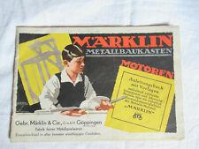 Märklin Metallbaukasten  Anleitungsbuch