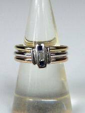 Ringe mit natürlichem Saphir echten Edelsteinen aus mehrfarbigem Gold