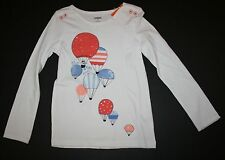 New Gymboree White Hot Air Balloon Top Tee Shirt Size 8 Year Away We Go Line