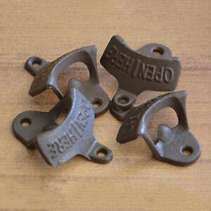 Open Here Cast Iron Cool Wall Mount Bottle Opener Western Rustic Bro T,BI