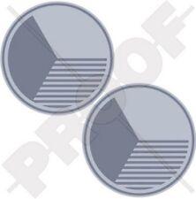 TSCHECHISCHE Luftwaffe TSCHECHOSLOWAKEI LowVis Roundel 75mm Sticker Aufkleber x2