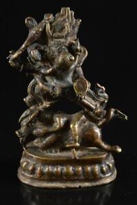 #6714: XF Japanese Copper BUDDHIST STATUE sculpture Ornament Buddhist art