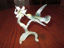 Vintage Bochmann Fine China Hummingbird Figurine #323 *Western Germany