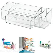 Bathroom Organizer Storage Makeup Medicine Cabinet Drawer Caddy Durable Clear Rv