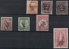 1946 Australia BCOF set SG J1/J7 5 shilling thick paper FU