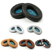 1 Pair Replacement L/R Leather Ear Pads Cushion for Bose QC2 QC25 AE2 Headphones