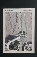GS500E Publicidad Moto Suzuki GS 500E Prospecto Folleto Volantes Catálogo