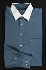 SEIDENSTICKER Herrenhemd  Hemd, petrol - blau - weiß Gr. KW 44 = ca. 54-56