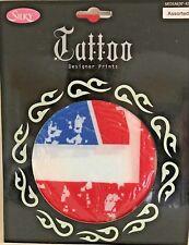 "Ladies Tights by Silky Tattoo DESIGNER Print Union Jack Medium 36 - 42"""