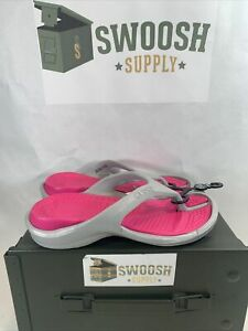 Crocs Athens Flip Flops Sandals Size Mens 2 Womens 4 Pink Gray New