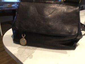 Details about  /DOLCE /& GABBANA Men/'s Bags Handbag Black Leather NIB Authentic