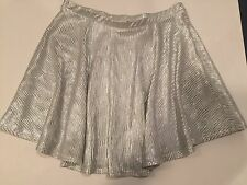 NWOT Pac Sun LA HEARTS Junior Girls Silver Flare/Circle Skirt Size Medium