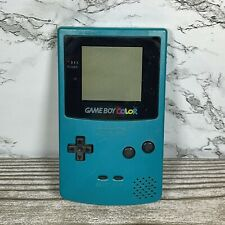 Vintage Nintendo GameBoy Color GBC - Teal Blue - No Battery Cover Tested Working