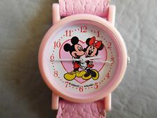 AVRONEL DISNEY MICKEY MINNIE MONTRE BRACELET CUIR ROSE ENFANT FILLE WATCH 90