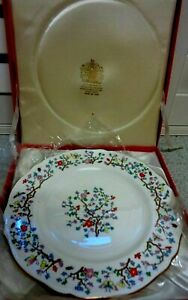 """SPODE  COLLECTION """" SHANGHAI """" PLATE IRONSTONE LARGE CAKE SEVING PLATE 10.6 Inch"""