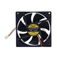 4X(3 Pin 90mm 25mm Cooler Fan Heatsink Cooling Radiator For Computer PC CPU5W3)