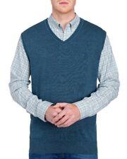 Van Heusen Big & Tall Mens 4XL Teal Heather V-Neck Sweater Vest NWT $60 Size 4XL