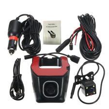 HD 1080P Hidden Wifi Dual Lens DVR Car Dashboard Video Recorder Camera G-Sensor