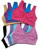PACK OF 3 Seamless Comfort Bra Sports Style Crop Top Vest Stretch Shapewear Bra