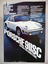 Porsche 911SC PRINT AD - 1977