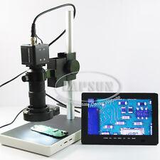 """100X BNC AV TV Digital Industrial Microscope Camera SET C-Mount Lens +7"""" Monitor"""