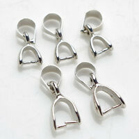 1X Jewelry Findings Bail Connector Bale Pinch Clasp of Pendant Making DIY