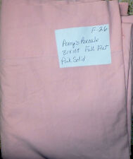 Vintage Full Flat Sheet PINK Cotton Percale JC PENNY  F-26
